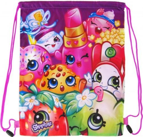 "Official ""Shopkins"" Character Sports PE, Gym, Shoe Bags ""Perfect for School"""